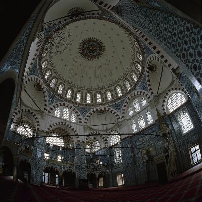 Turkey. Istanbul. Rustem Pasha Mosque. Built by Mimar Sinan Between 1561-1563. Inside- Sinan-Photographic Print