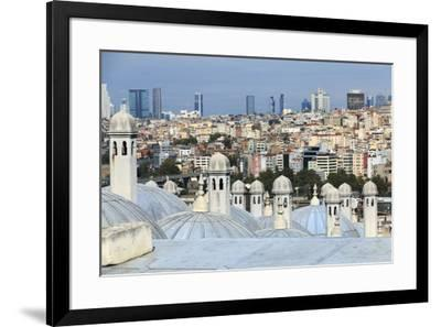 Turkey, Istanbul. Suleymaniye Mosque complex.-Emily Wilson-Framed Premium Photographic Print