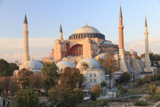 Turkey, Istanbul. Sultan Ahmet Mosque, Rooftop view.-Emily Wilson-Premium Photographic Print