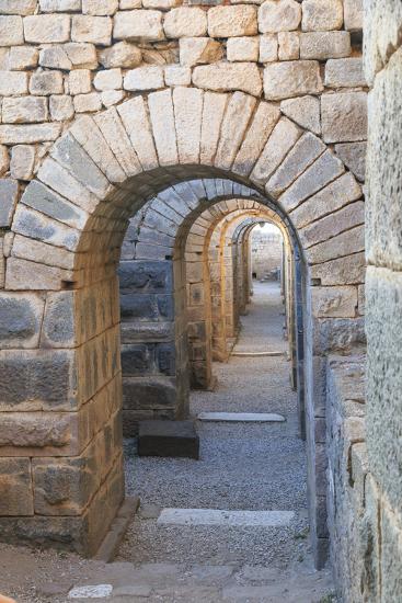 Turkey, Izmir, Bergama, Pergamon. Arches of the sanctuary of Trajan.-Emily Wilson-Premium Photographic Print