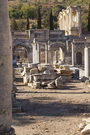 Turkey, Izmir, KUSAdasi. the Ruins of Ephesus-Emily Wilson-Photographic Print