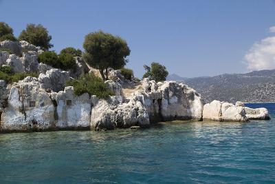 Turkey, Kas, Kekova, Dolichiste, Is a Small Turkish Island Near Demre District of Antalya Province-Emily Wilson-Photographic Print