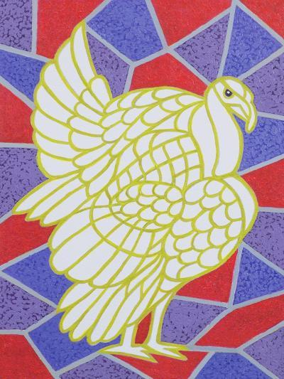 Turkey on Stained Glass-Pat Scott-Giclee Print