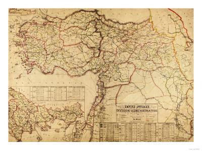 Turkey, Ottoman Empire - Panoramic Map-Lantern Press-Art Print