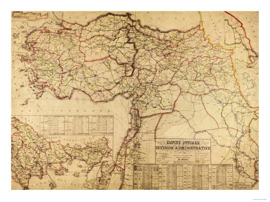 Turkey, Ottoman Empire - Panoramic Map-Lantern Press-Art Print