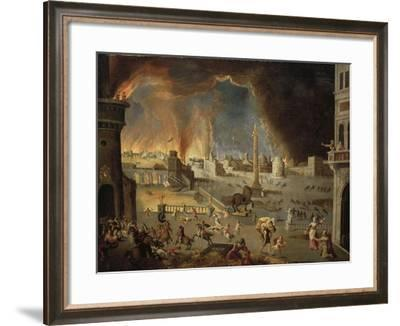 Turkey, Painting of the Sack of Troy--Framed Giclee Print