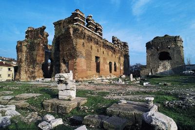 Turkey Pergamon Red Basilica, Pergamon, Turkey--Giclee Print