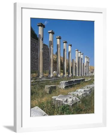 Turkey, Pergamum, North Portico and Ionic Columns--Framed Giclee Print