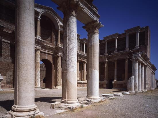 Turkey, Sardis, Two-Story Portico of Gymnasium--Giclee Print