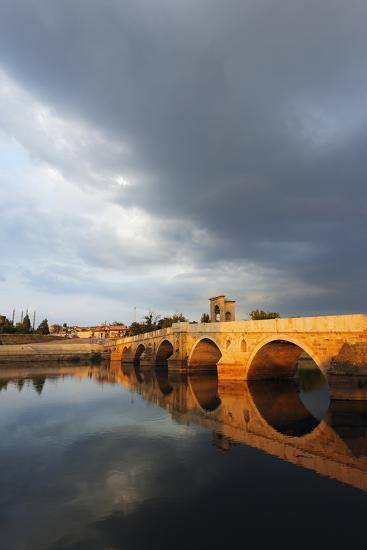 Turkey, Thrace, Edirne, Tunca Koprosu Stone Arched Bridge-Christian Kober-Photographic Print