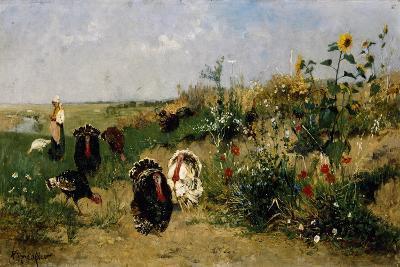 Turkeys, 1850-Eugenio Spreafico-Giclee Print