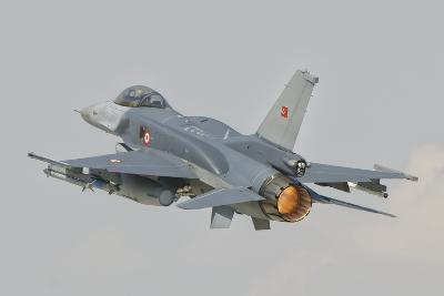 Turkish Air Force F-16 in Flight over Turkey-Stocktrek Images-Photographic Print