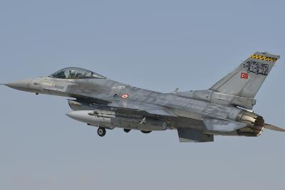 Turkish Air Force F-16 in Flight over Turkey-Stocktrek Images-Photographic Print