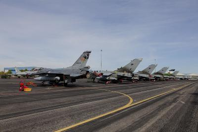 Turkish Air Force F-16 Jets on the Flight Line at Albaacete Air Base, Spain-Stocktrek Images-Photographic Print