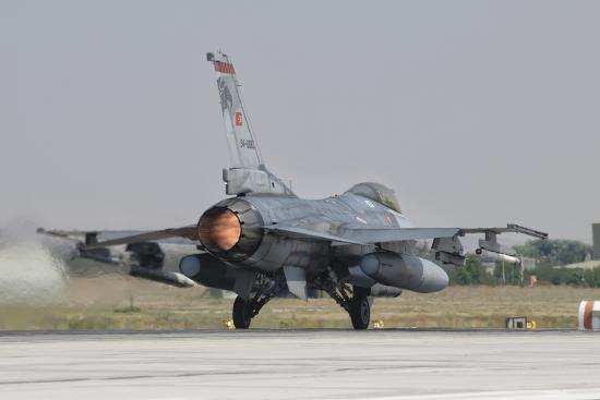 Turkish Air Force F-16 Preparing for Takeoff Photographic Print by  Stocktrek Images   Art com