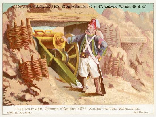 Turkish Artilleryman, Russo-Turkish War, 1877--Giclee Print