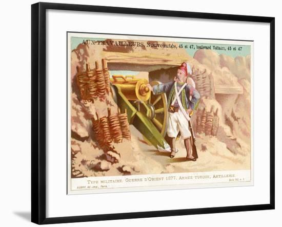 Turkish Artilleryman, Russo-Turkish War, 1877--Framed Giclee Print