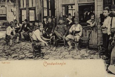 Turkish Coffee House, Constantinople, 1898--Photographic Print