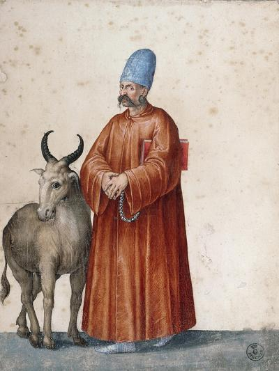 Turkish Man with Goat-Jacopo Ligozzi-Giclee Print