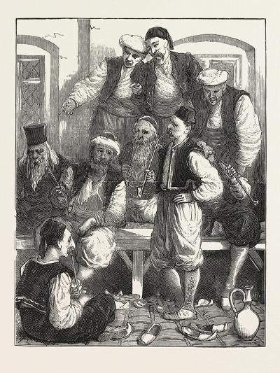 Turkish Prisoners in the Fortress, Belgrade, Serbia, 1876--Giclee Print