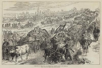 Turkish Refugees from the District of Tirnova Coming into Shumla--Giclee Print