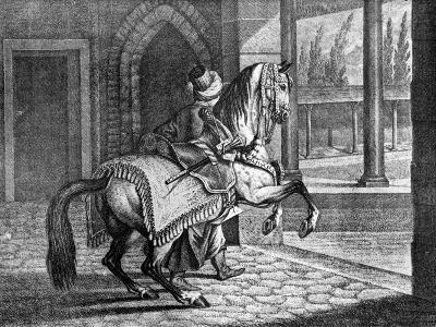 Turkish Sultan's Arabian Saddle Horse, 1722--Giclee Print