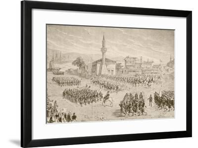 Turkish Troops Embarking to Fight in the Russo-Turkish War--Framed Giclee Print
