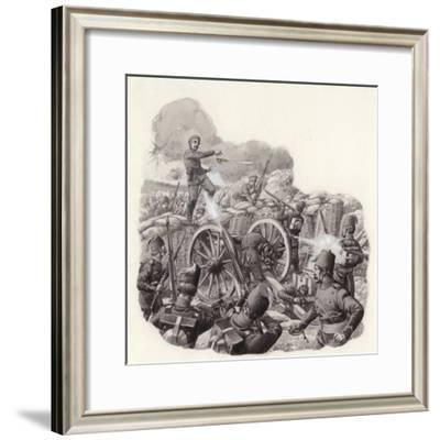 Turks Defend their Battered Earthworks at the Grivitza Redoubt--Framed Giclee Print
