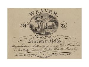 Turner, Weaver, Trade Card