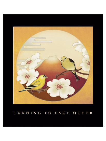 Turning To Each Other 1-Sybil Shane-Art Print