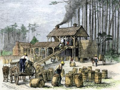 Turpentine Distillery in North Carolina, c.1870--Giclee Print