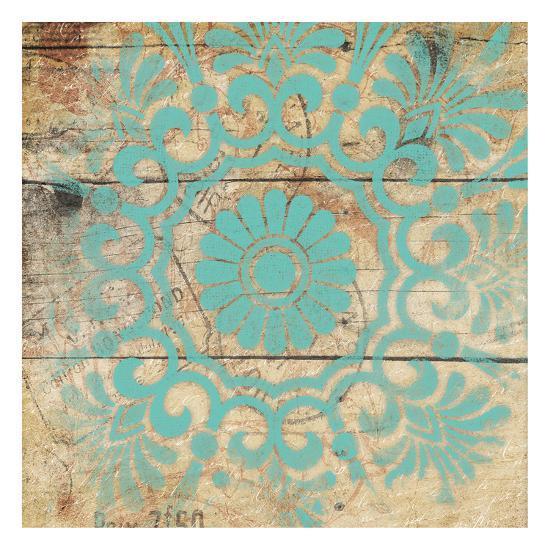 Turq Pattern 4-Jace Grey-Art Print