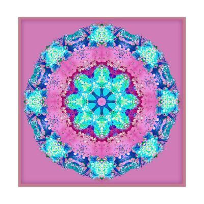 Turqoise Blossom Mandala-Alaya Gadeh-Art Print