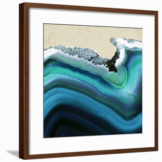 Turquoise Agate B--Framed Premium Photographic Print