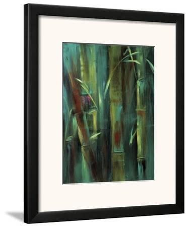Turquoise Bamboo I-Suzanne Wilkins-Framed Art Print