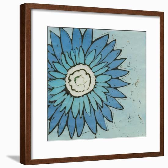 Turquoise Batik Botanical III-Andrea Davis-Framed Art Print