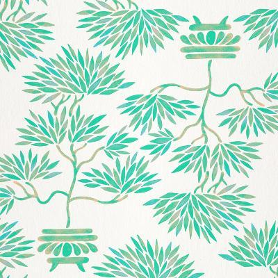 Turquoise Bonsai Pattern-Cat Coquillette-Giclee Print