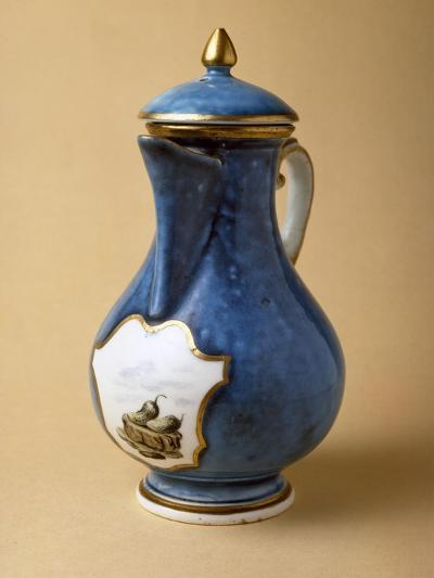 Turquoise Coffee Pot and Lid, 1745-1750, Porcelain--Giclee Print