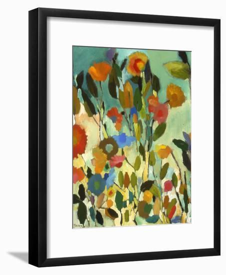 Turquoise Garden-Kim Parker-Framed Giclee Print