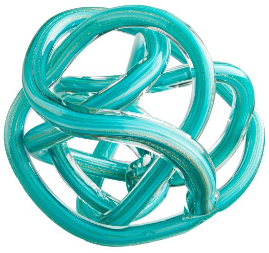 Turquoise Glass Knot - Large--Home Accessories