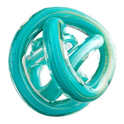 Turquoise Glass Knot - Small *