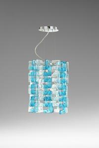 Turquoise Glass Links Pendant Lamp