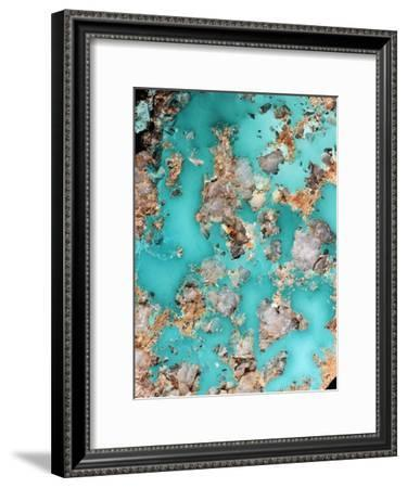 Turquoise Mineral-Dirk Wiersma-Framed Photographic Print