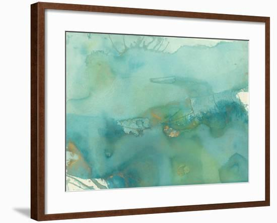 Turquoise Moment III-Joyce Combs-Framed Art Print
