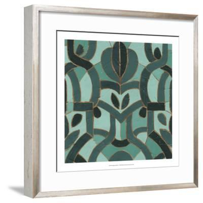 Turquoise Mosaic I-June Erica Vess-Framed Giclee Print