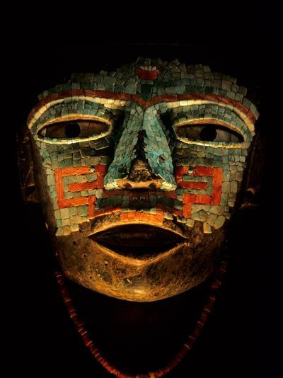 Turquoise, Mosaic, Mask, Teotihuacan, Mexico-Kenneth Garrett-Photographic Print