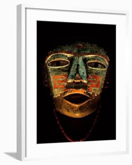 Turquoise, Mosaic, Mask, Teotihuacan, Mexico-Kenneth Garrett-Framed Photographic Print