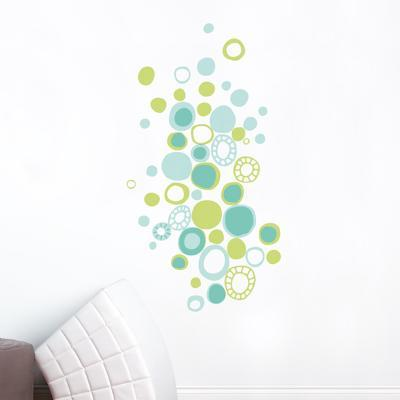 Turquoise Polka Dots Wall Decal--Wall Decal