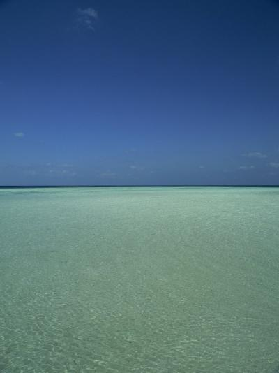 Turquoise Sea and Blue Sky, Seascape in the Maldives, Indian Ocean-Fraser Hall-Photographic Print