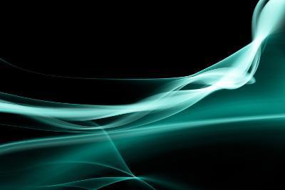 Turquoise Smoke-Nneirda-Art Print